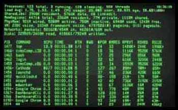 old computer monitor with green text